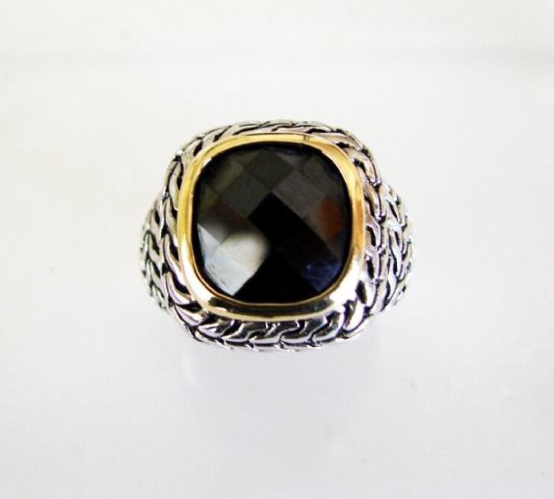 Men Ring Creation Diamonds 9.20Ct 18k W/Y/g Overlay - 2