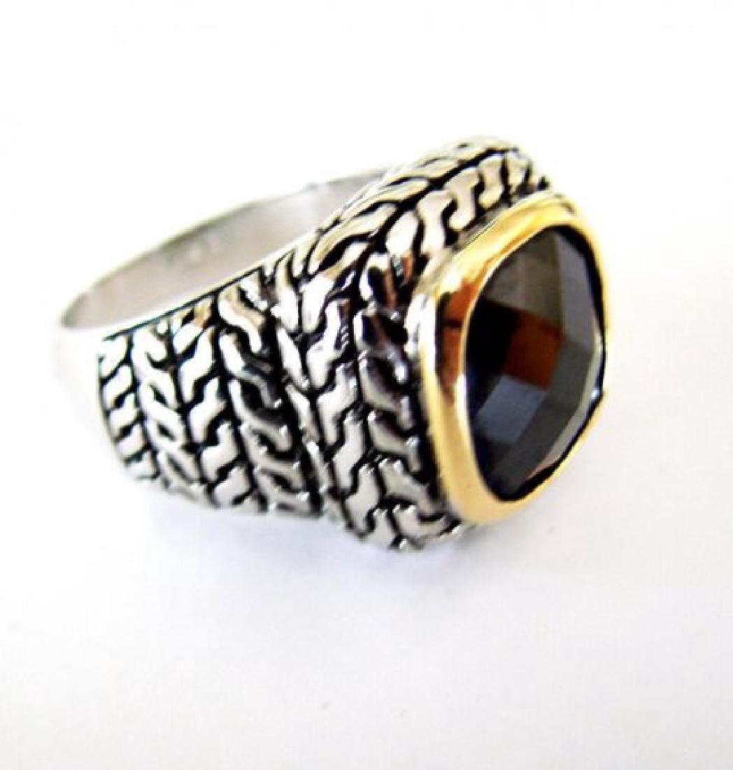 Men Ring Creation Diamonds 9.20Ct 18k W/Y/g Overlay - 3