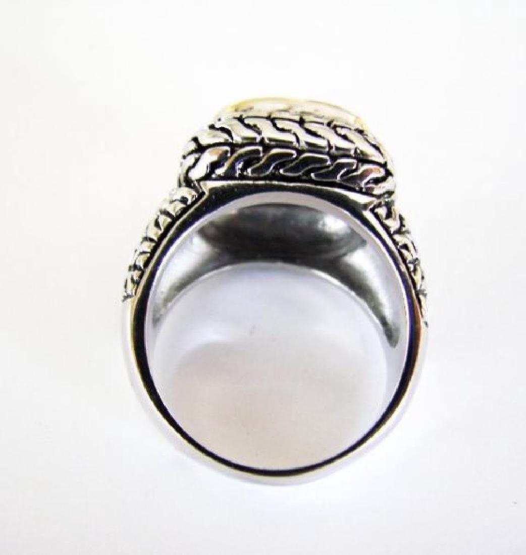 Men Ring Creation Diamonds 9.20Ct 18k W/Y/g Overlay - 4