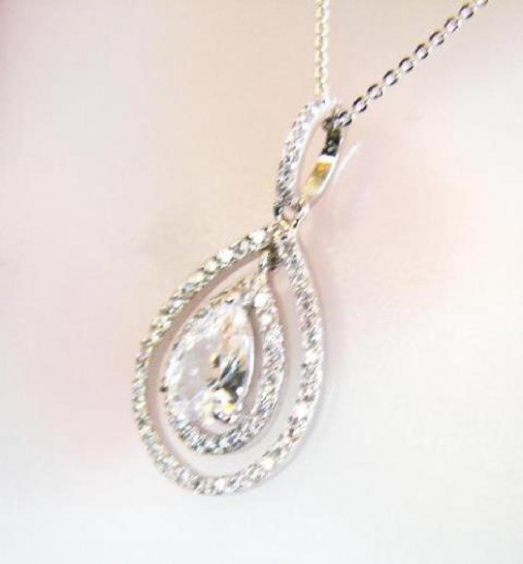 Creation Diamond/ Pear Shaped Necklace 2.32 Carat - 3