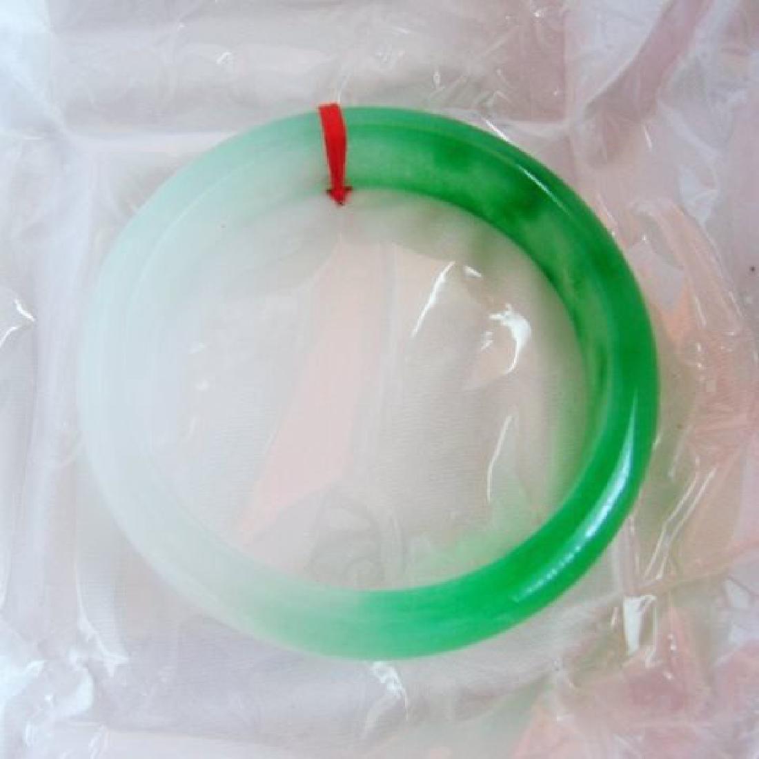 Natural Jadeite Jade Bangle Grade B Size: 7.75