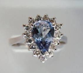 Tanzanite & Diamond Ring 3.60CT14k W/g
