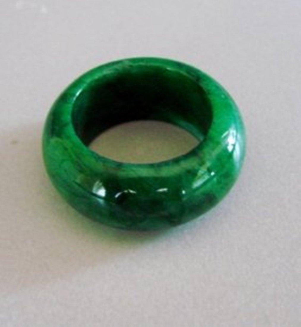 Natural Chinese Jadeit Jade Ring Grade A Size: 8