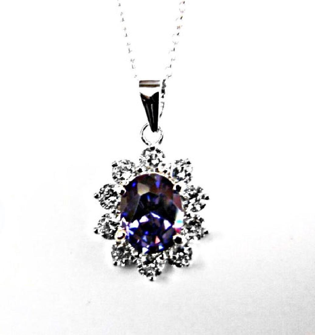Creation Diamond/TanzaniteNecklace 3.09CT