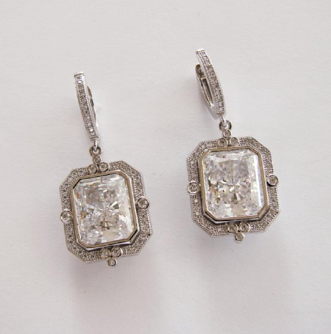 Creation Diamond Earring 5.50Ct 18k W/g Overlay