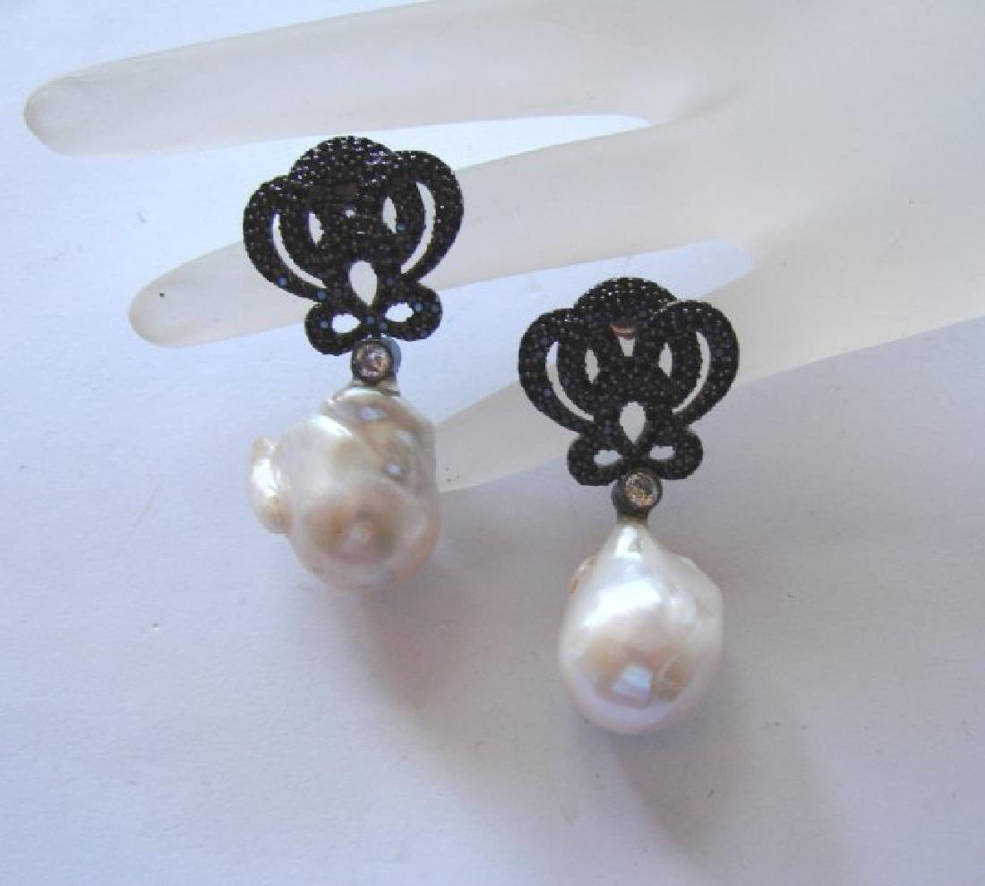 South Sea Pearl Baroque Creation Diamond 10.27Ct18k W/g - 2