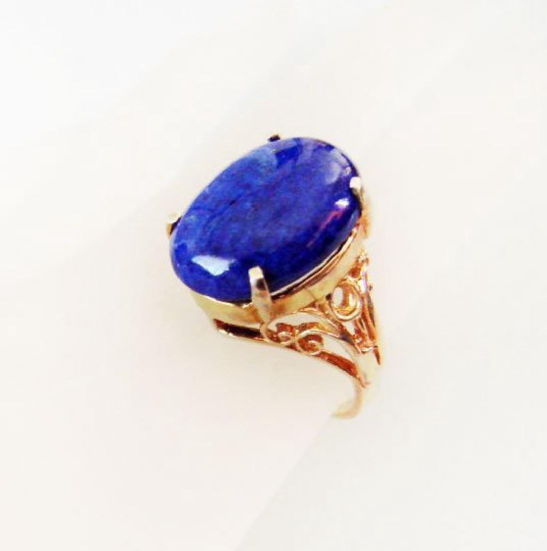 Natural Blue Lazuli Ring 16.70Ct 14k Y/g - 3