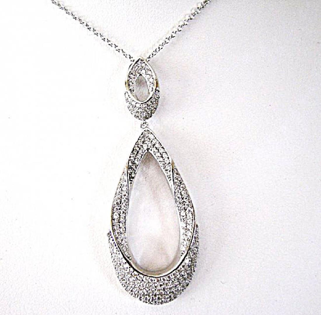 Ceation Diamond Chandeliers Pendant 4.42Ct 18k W/g Over