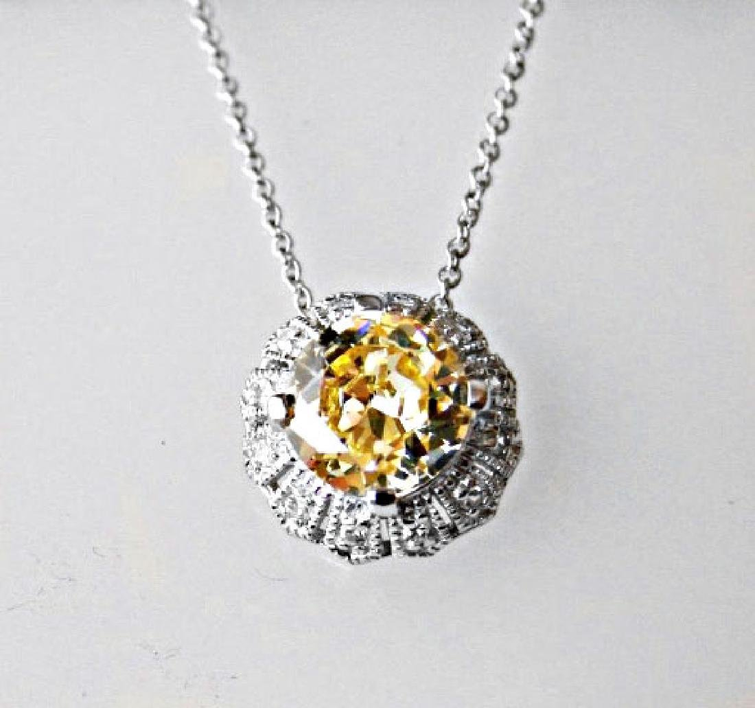 Creation Diamond/ Necklace 2.03CT 18k W/G Overlay - 2