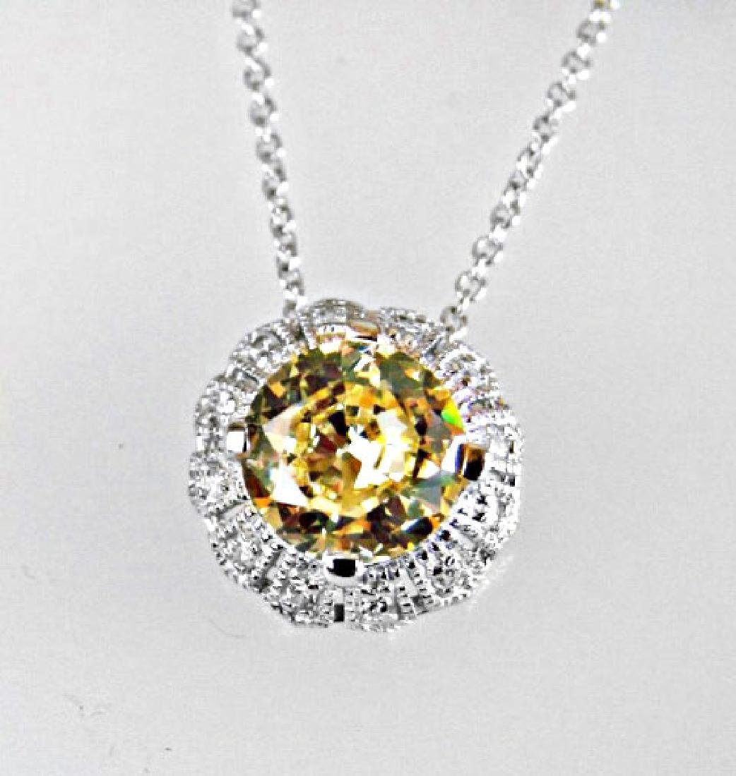 Creation Diamond/ Necklace 2.03CT 18k W/G Overlay - 3