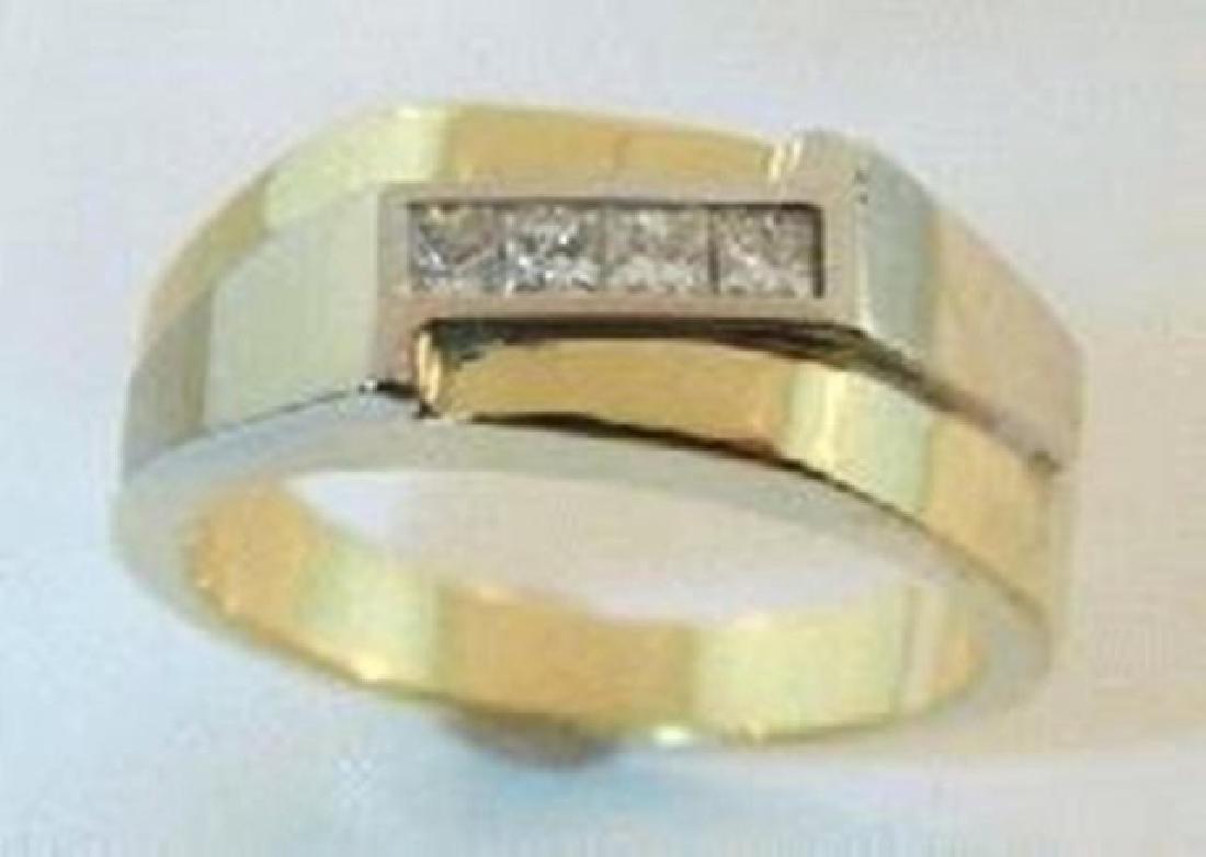 Man's Diamond Ring .40Ct 14k Yellow Gold