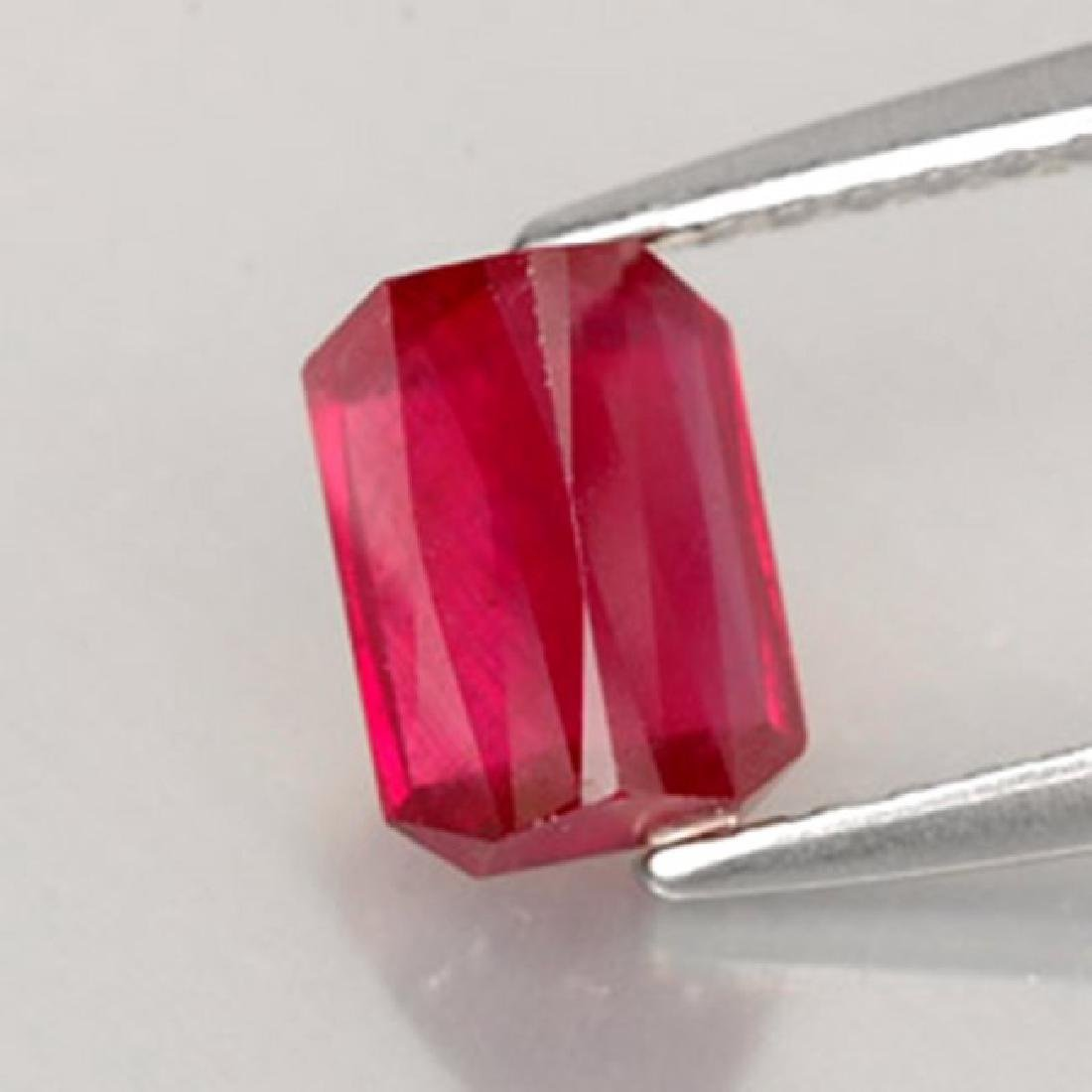 Natural Ruby Octagon Facet 1.32Ct 6.8x4.6x3.6 mm - 2