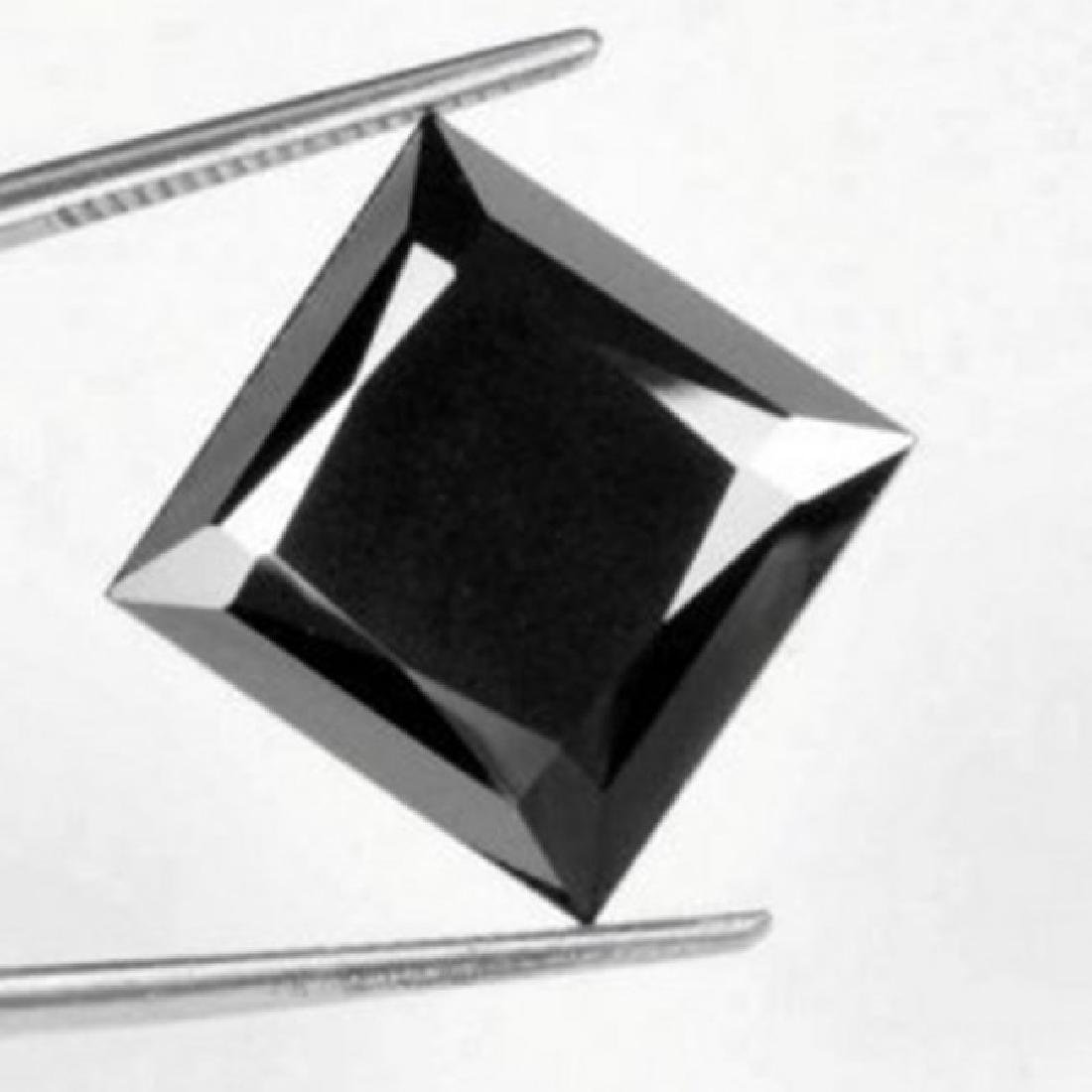 Black Diamond Princess Cut 1.43Ct 6.4x6.4x4.7 mm
