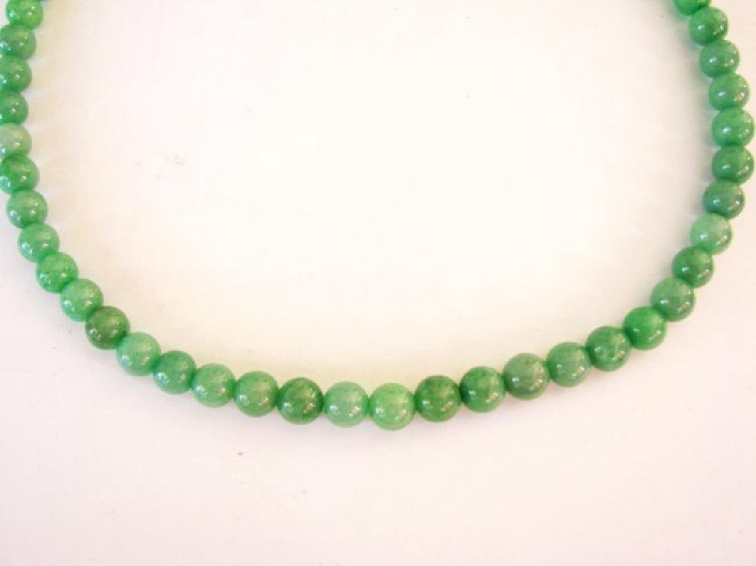 Natural Jade Beads Necklace Size 9 mm
