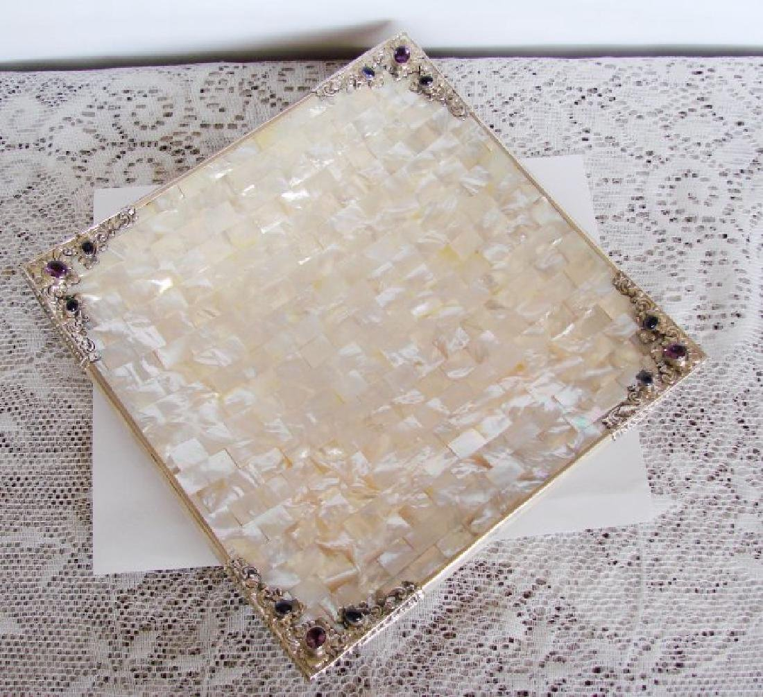 Collectable Item Mother Pearl/Amethyst/ Silver 925 - 3