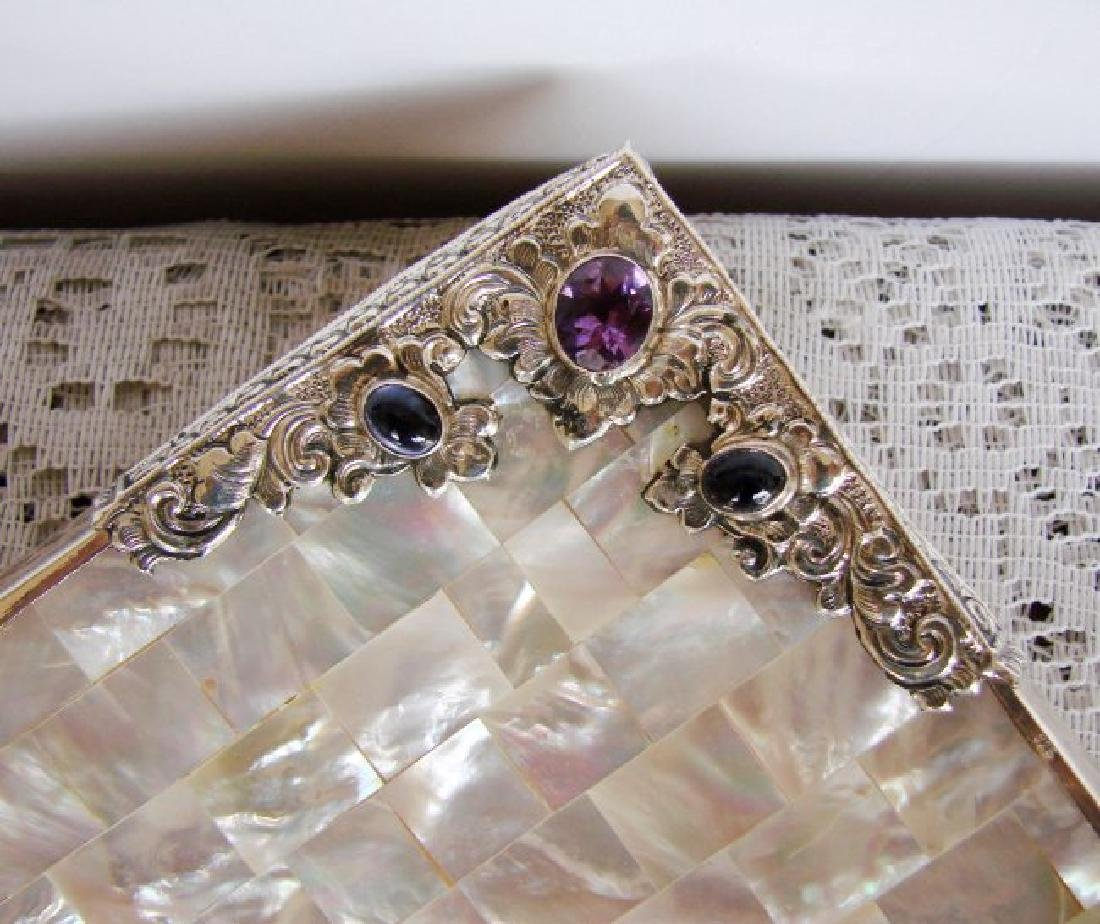 Collectable Item Mother Pearl/Amethyst/ Silver 925 - 4