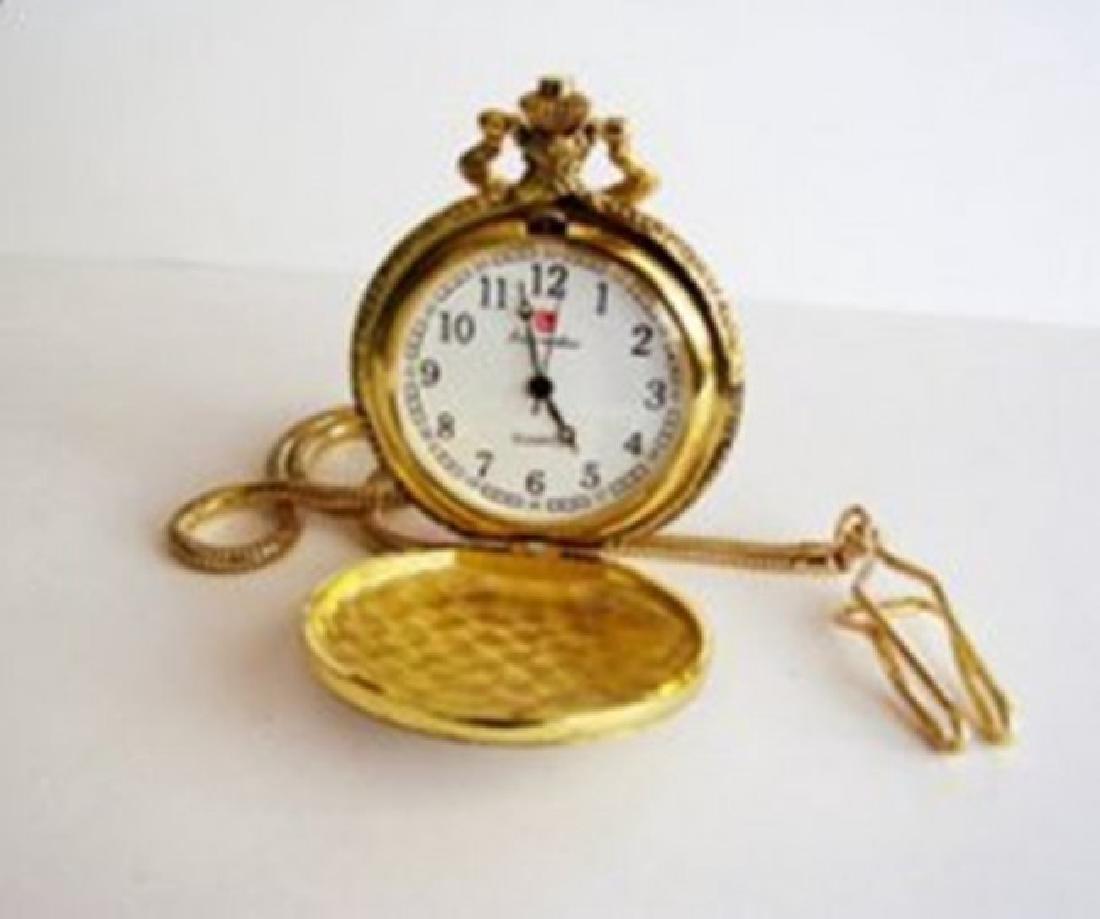 Pocket Watch 'L' Luis Cardini 18k Y/g overlay