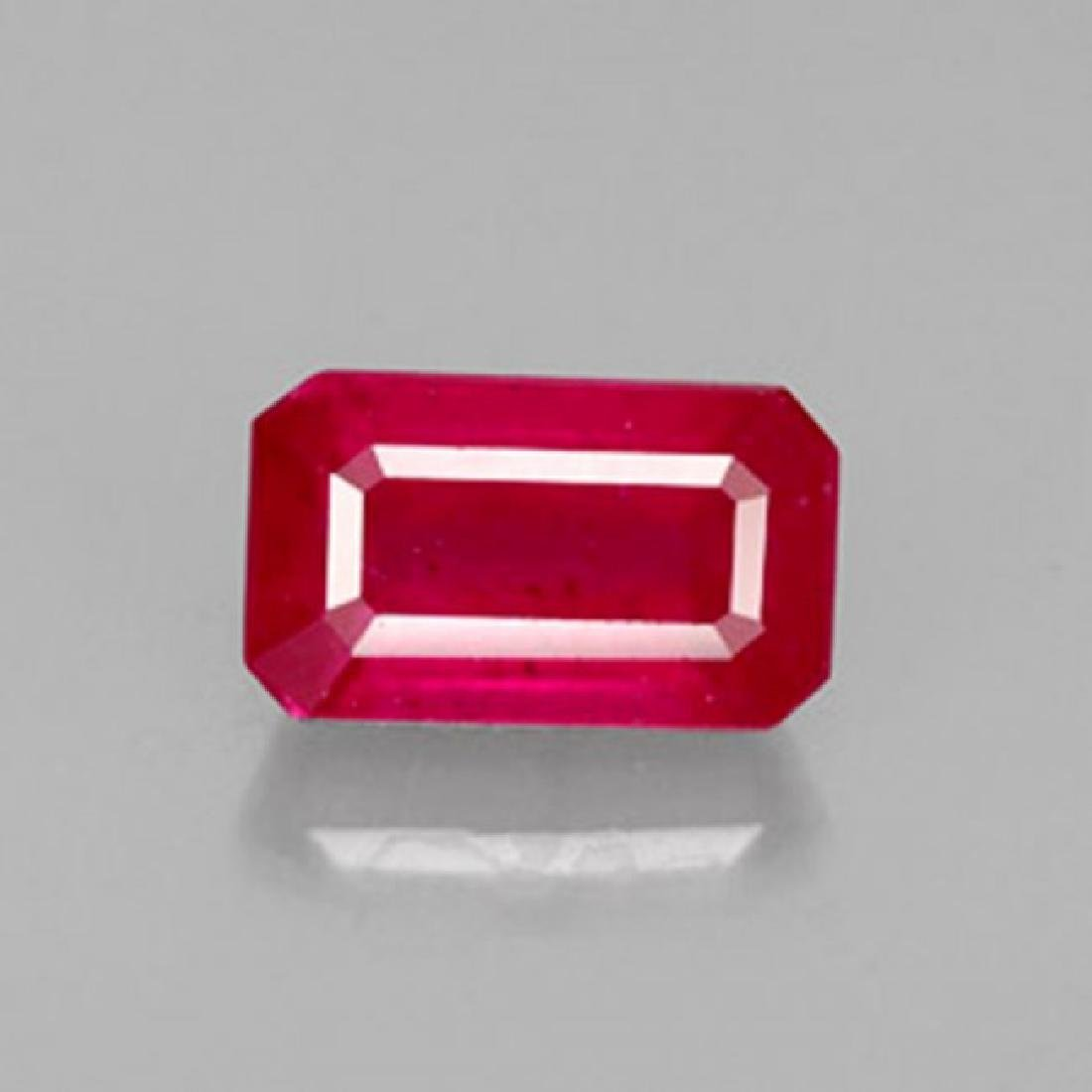 Natural Ruby Octagon Facet 1.78Ct 9.2x5.1x3.4 mm