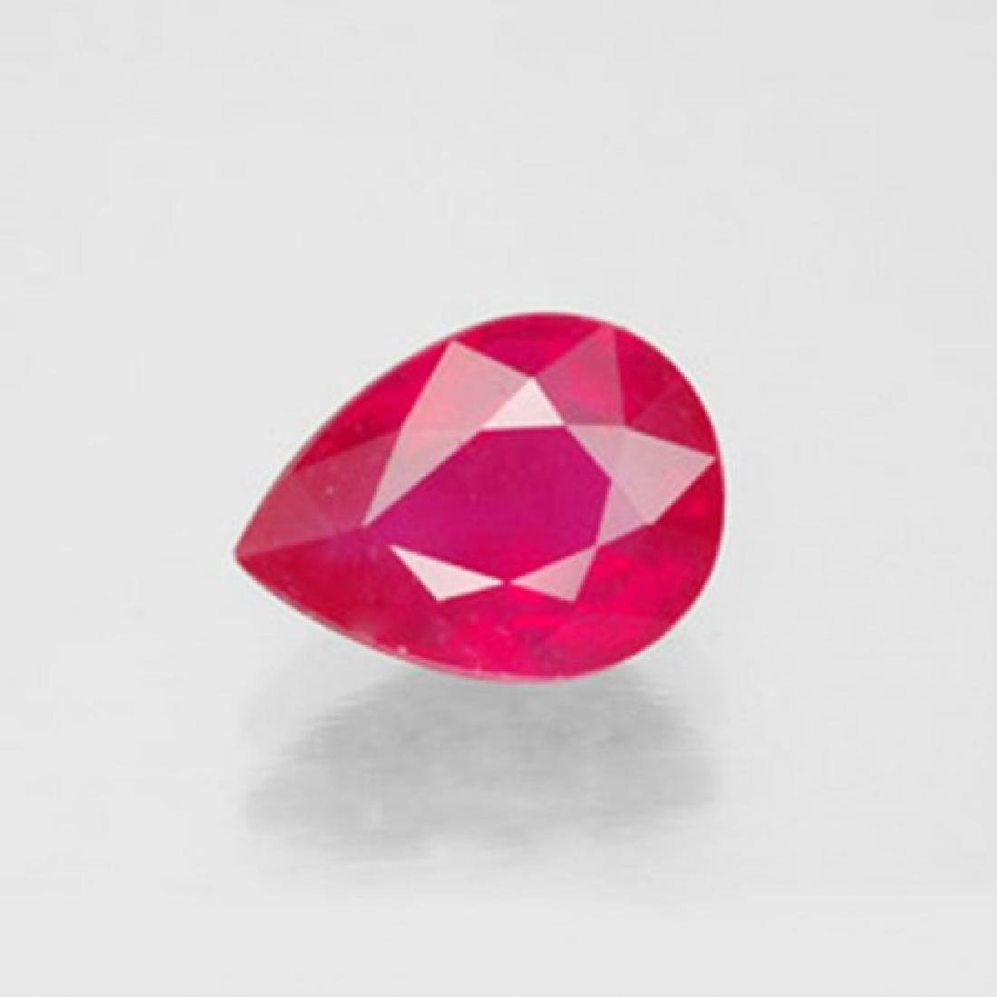 Natural Ruby Pear Facet 1.79Ct 8.1x6.3x4.1 mm