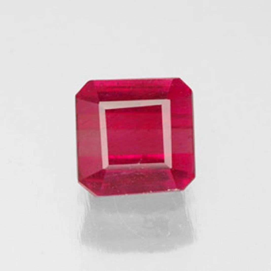 Natural Ruby Cushion Facet 1..49Ct 6.2x6x3.9 mm