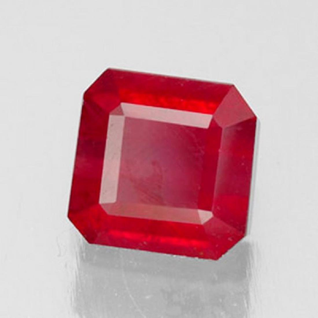 Natural Ruby Cushion Facet 1.72Ct 6.5x6.4x4.2mm