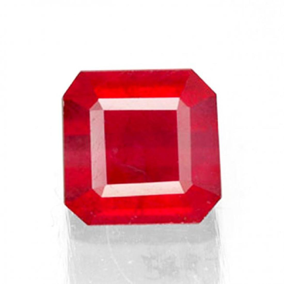 Natural Ruby Cushion Facet 1.86Ct 6.8x6.6x4.3mm