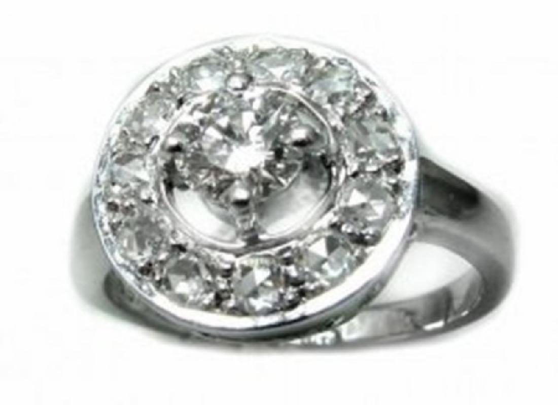 Anniversary Diamond Ring 1.21 Ct 14k W/g