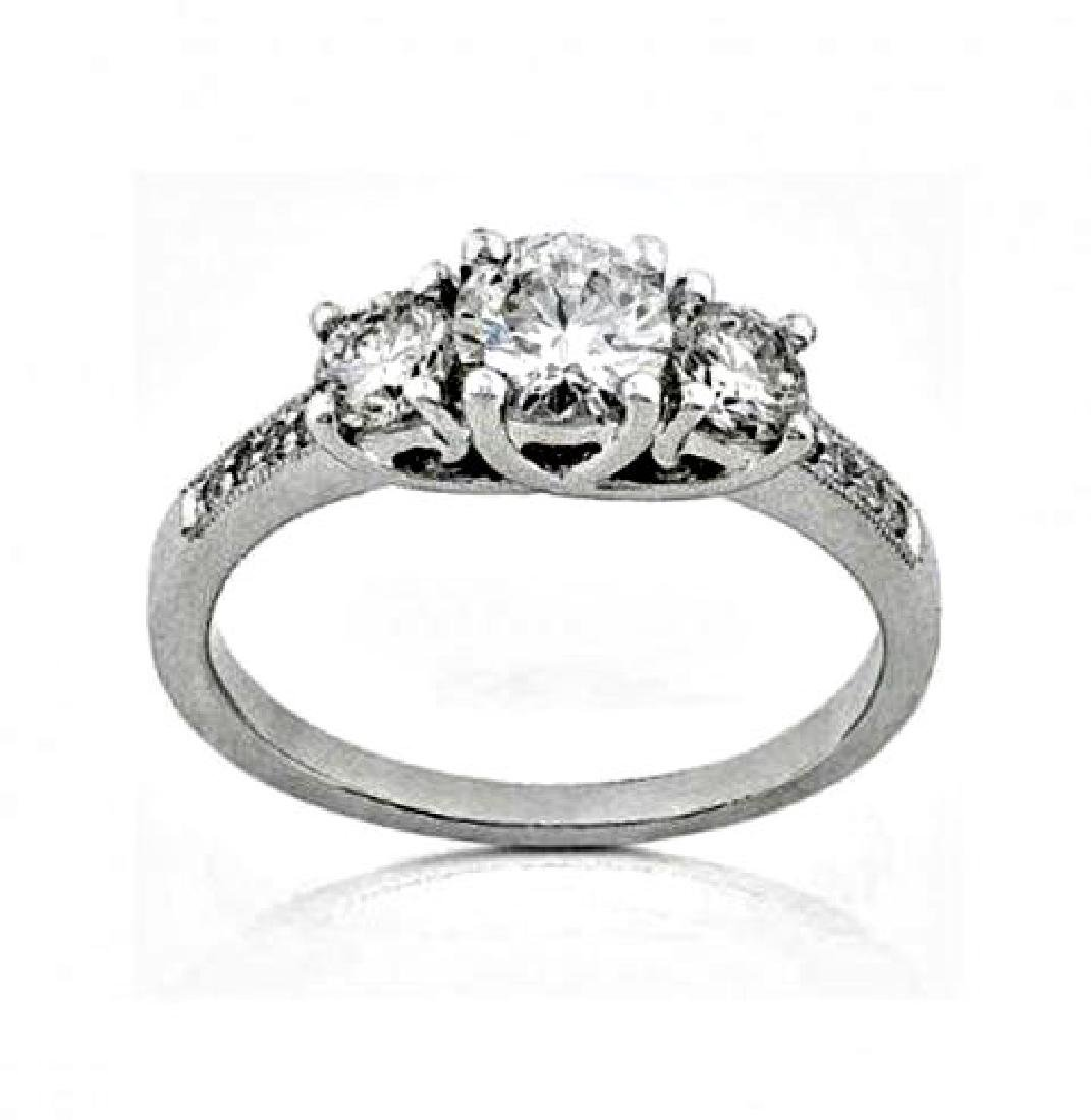 Present Past Future Diamond Ring1.53CT 14K W/g
