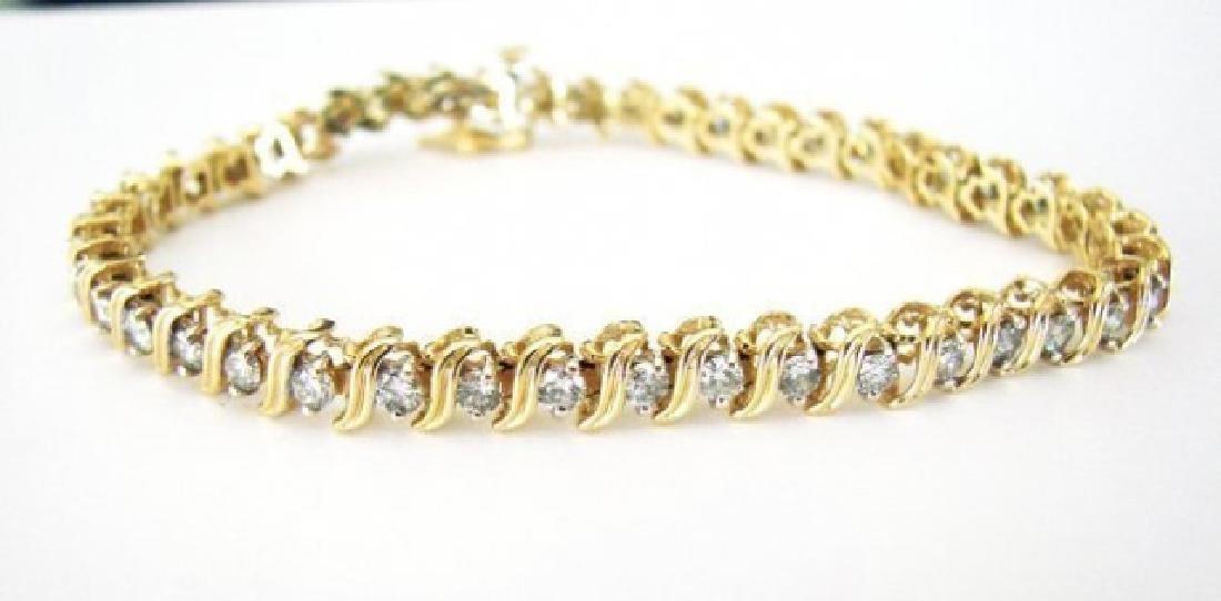 Tennis Diamond Bracelet 3.52Carat 14k Y/g