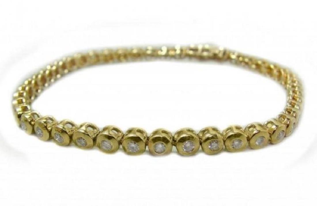 Tennis Diamond Bracelet 1.45 Carat 14k Y/G