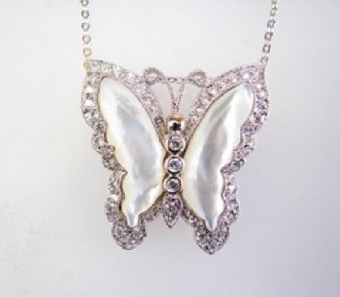 Pendant Natural Mabe Pearl Creation Diamond 9.10Ct