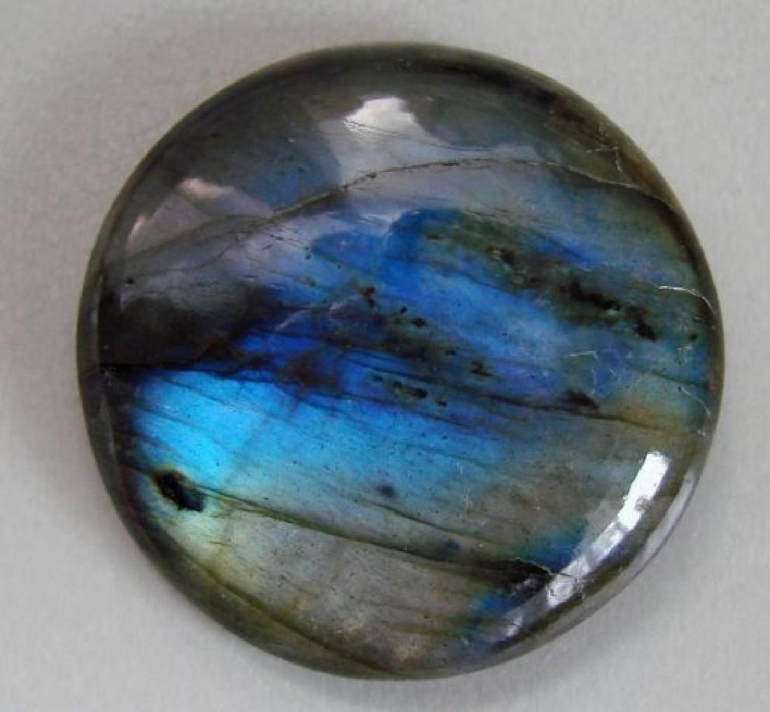 Natural Labradorite Round Cab 79.53Ct 33x8.4mm