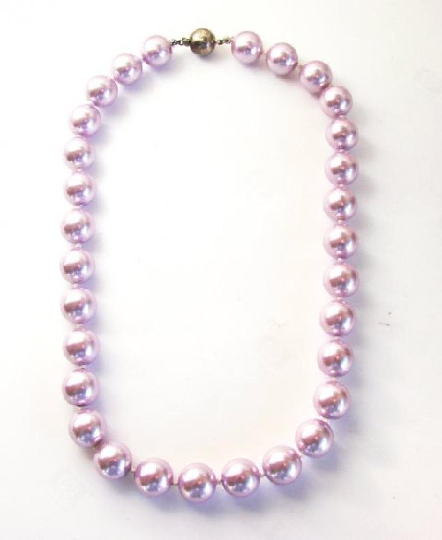 Necklace Swarovski Crystal Pearl 13mm SZ 16""