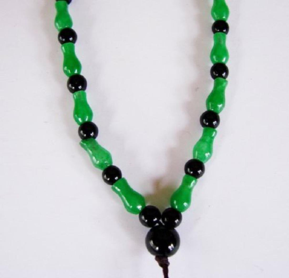 Natural Jadeite Jade & Agate Necklace