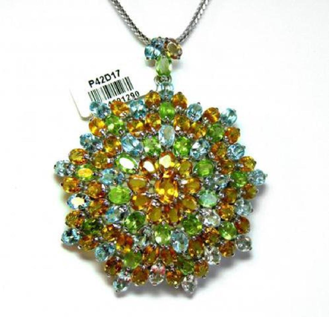 Multi-Colored Pendant 47.CT 18k W/g Overlay
