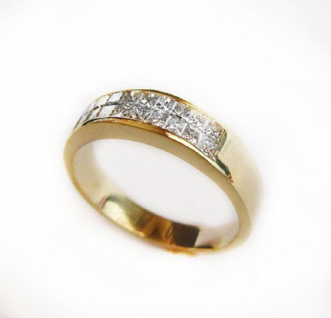 Invisible Diamond Ring 1.23 Carat 18k Y/g (Size: 11)