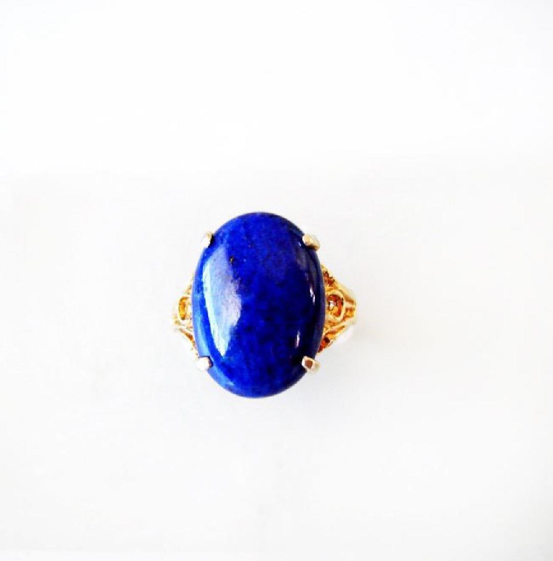 Natural Blue Lazuli Ring 16.70Ct 14k Y/g