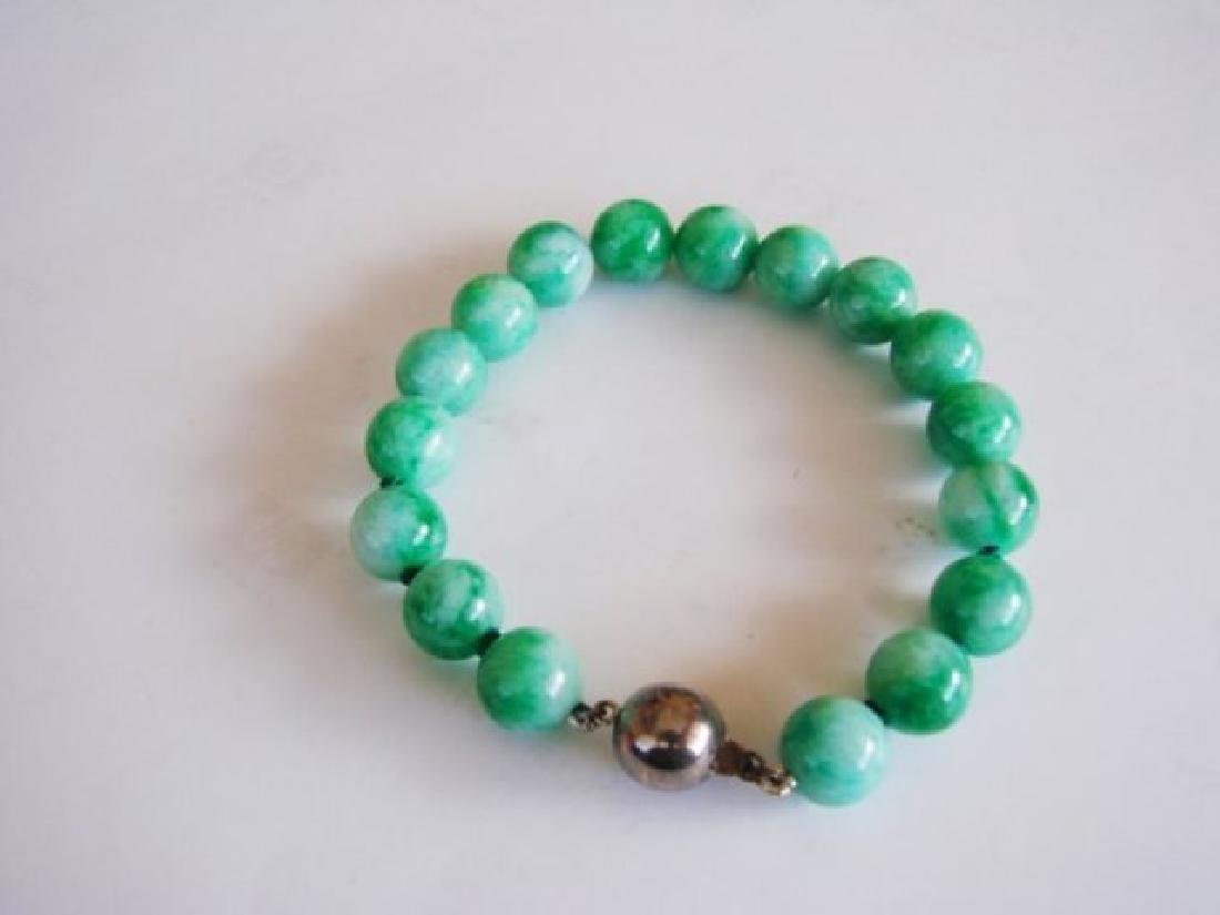 Natural Jadeite Jade bead Bracelet  Grade: B