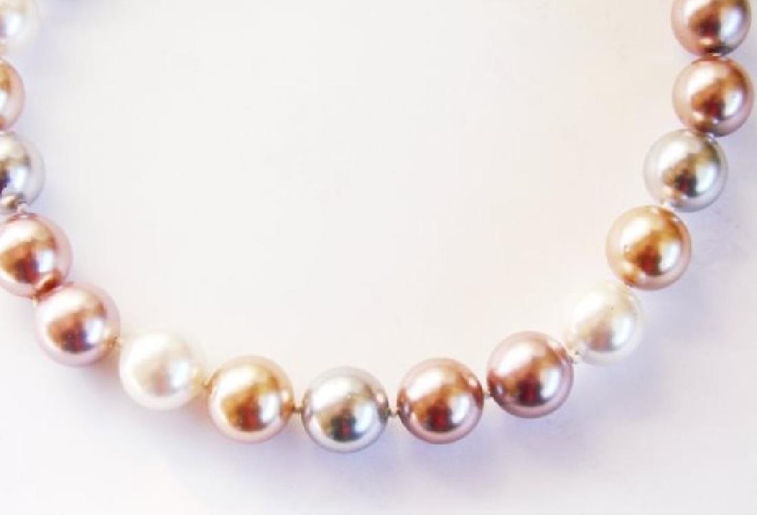Necklace Multicolor Swarovski  Pearl 12mm