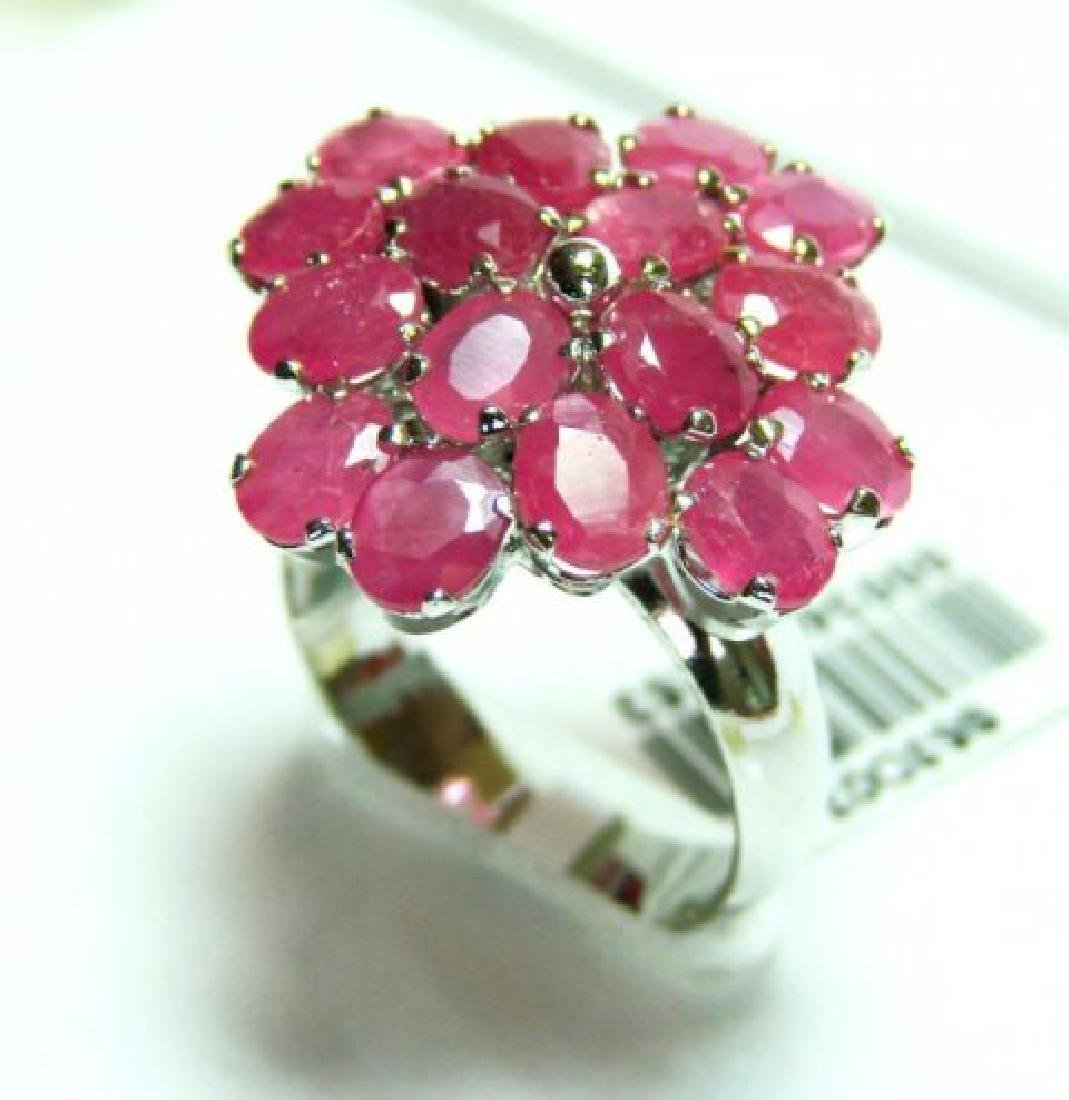Natural Ruby Ring 8.64Ct 18k W/g Overlay - 2