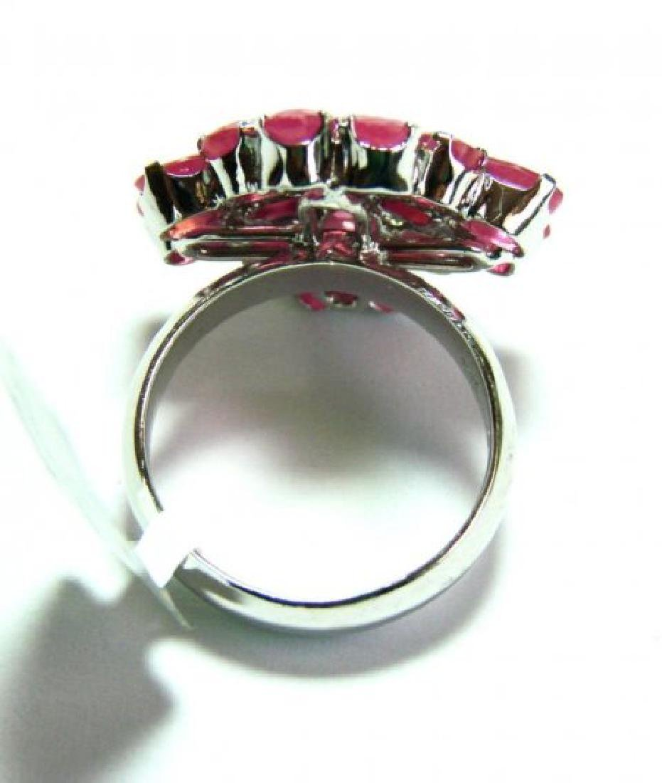 Natural Ruby Ring 8.64Ct 18k W/g Overlay - 3