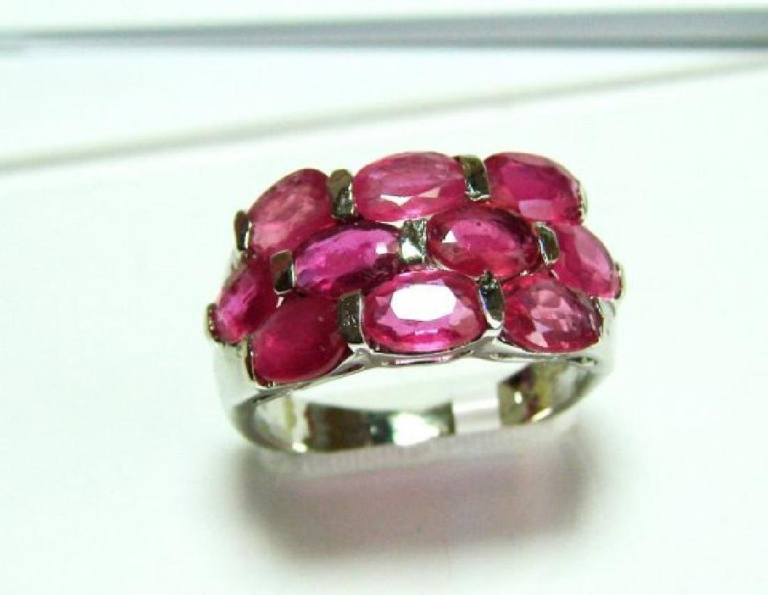 Natural Ruby Ring 8.10Ct 18k W/g Overlay