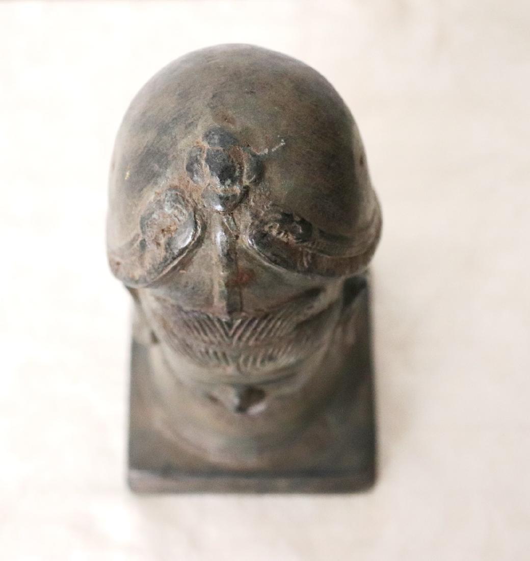 Takrut Mangorn Paya Nakarach Sacred Brass Statue 10th C - 5