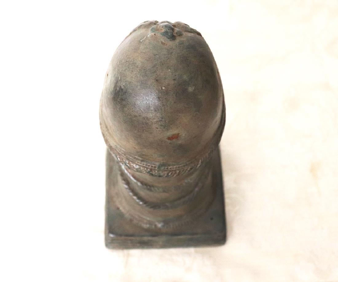 Takrut Mangorn Paya Nakarach Sacred Brass Statue 10th C - 6