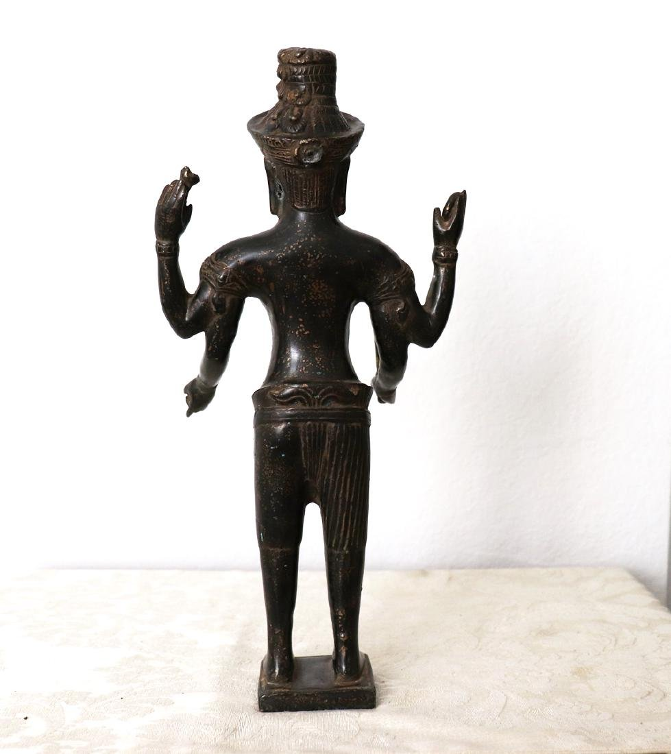 Khmer Angkor,Buddha Brass King Statue 12th Century - 5