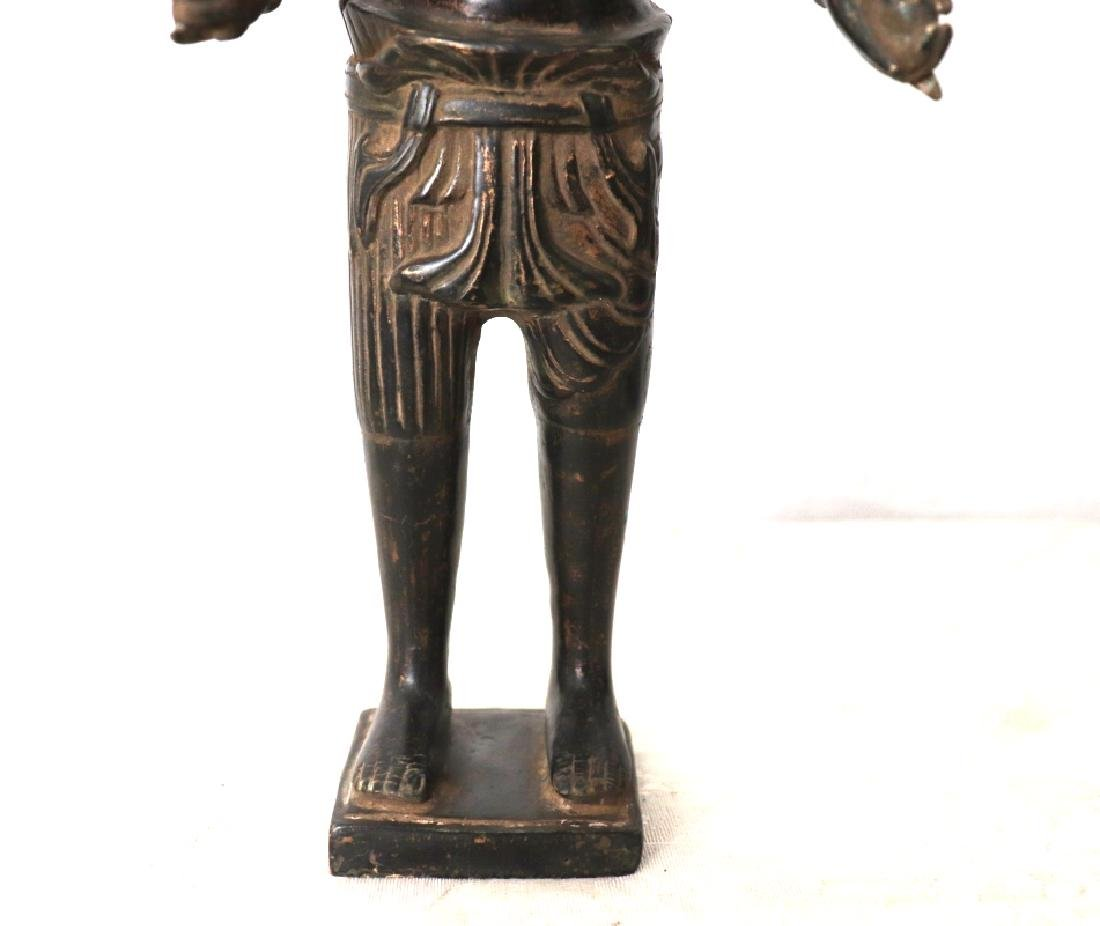 Khmer Angkor,Buddha Brass King Statue 12th Century - 7