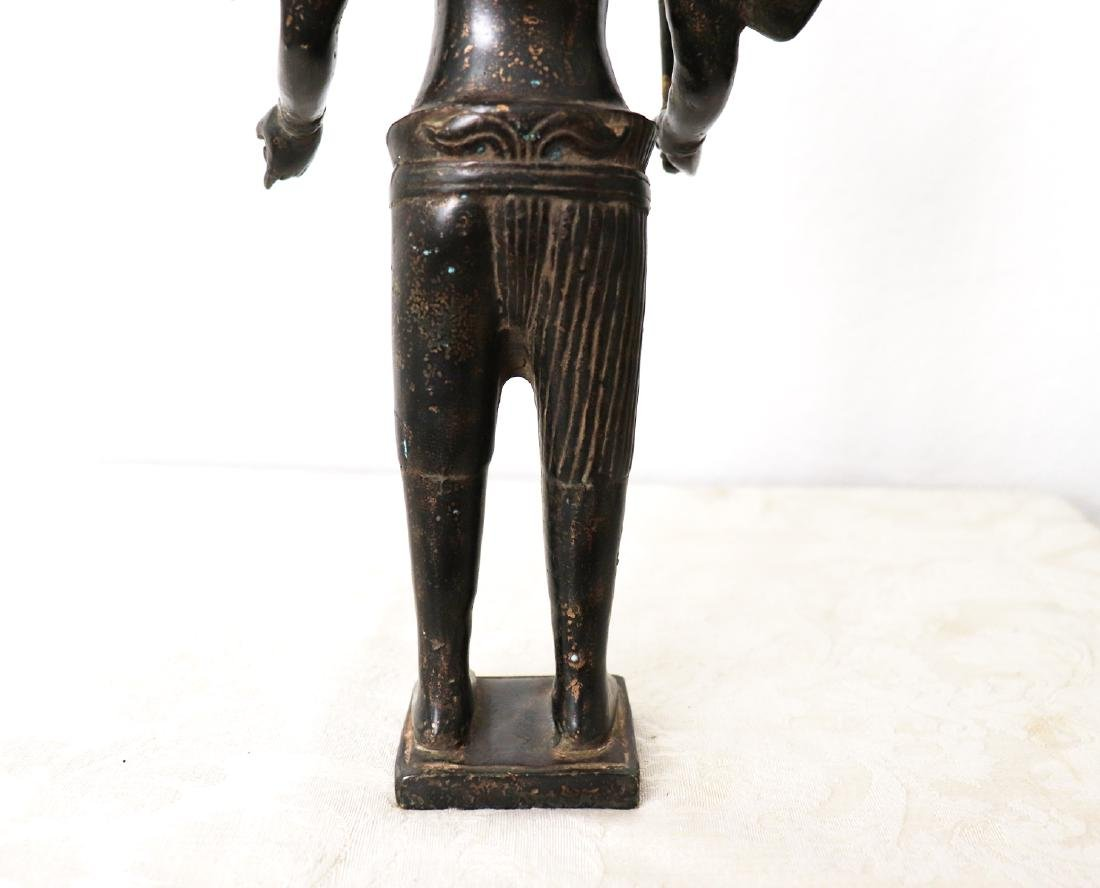 Khmer Angkor,Buddha Brass King Statue 12th Century - 9