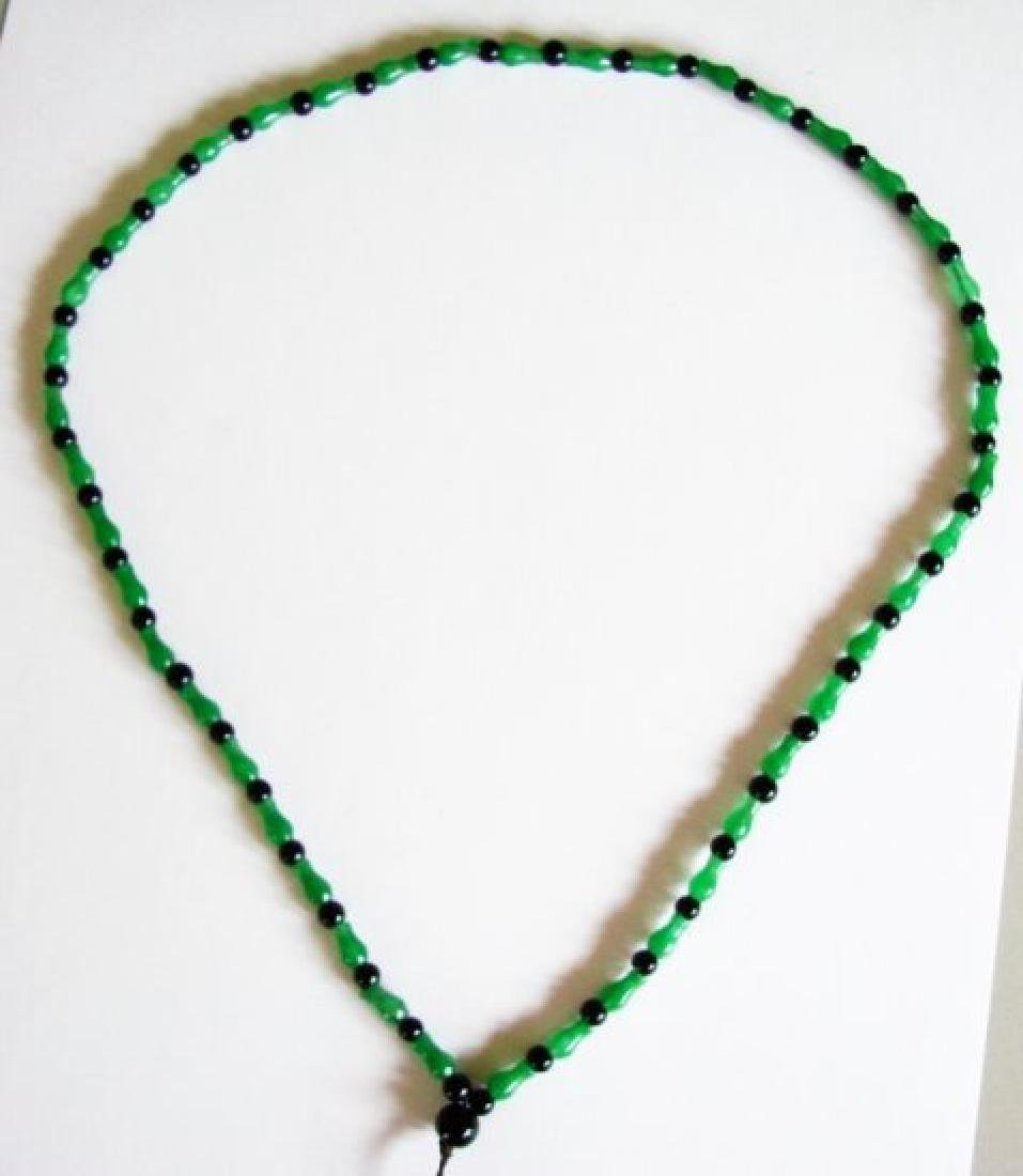 Natural Jadeite Jade & Agate Necklace - 3