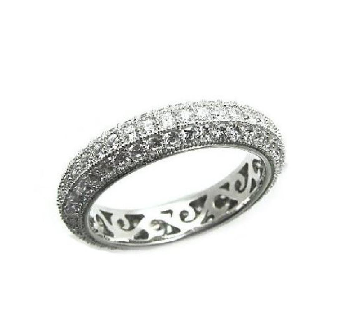 Creation Diamond Eternity Ring 2.00Ct 18k W/g Over