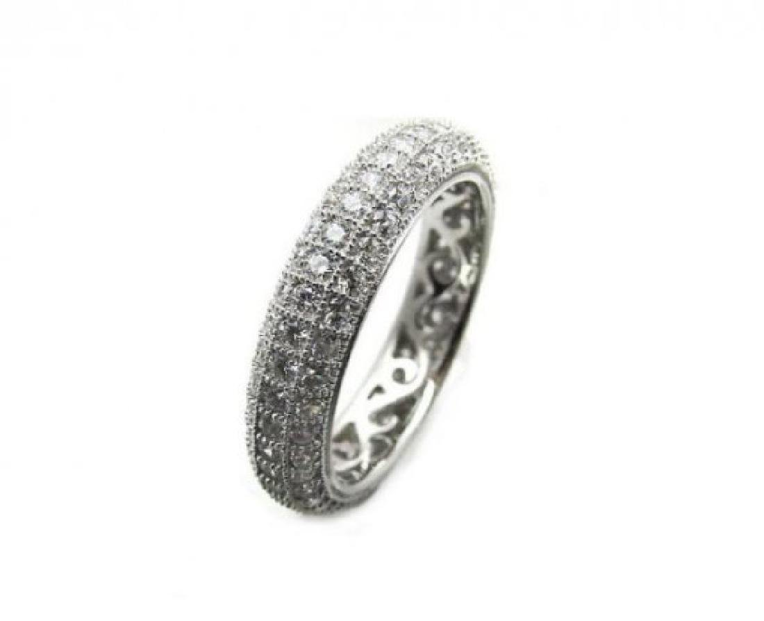 Creation Diamond Eternity Ring 2.00Ct 18k W/g Over - 2